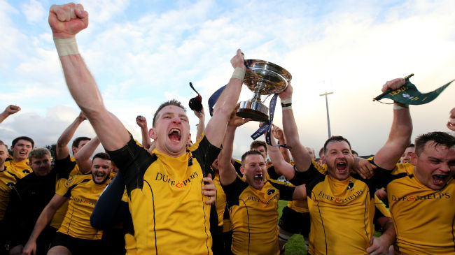 Ashbourne celebrate winning the All-Ireland Junior Cup