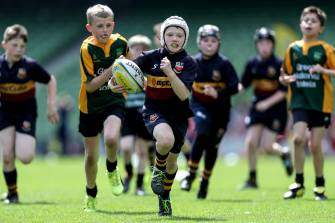 Aviva Minis in action at the Aviva Stadium