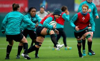 Ireland Women's Captain's Run At Aviva Stadium Back Pitch
