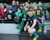 Peter O'Mahony with fans at the Ireland open training session