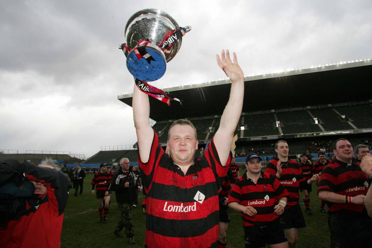 Captain Peter Boyle with the Junior Cup Mandatory Credit ©INPHO/Morgan Treacy