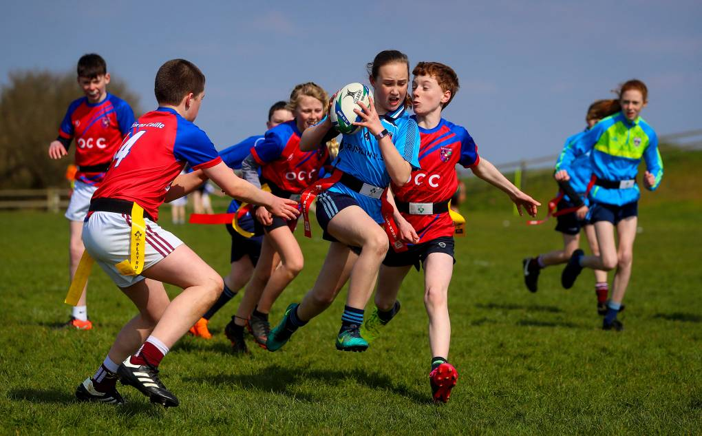 Aldi Play Rugby Festival, Castlebar RFC, Co. Mayo 10/4/2019 Action from Crumlin vs Lisheenkyle Mandatory Credit ©INPHO/Tommy Dickson