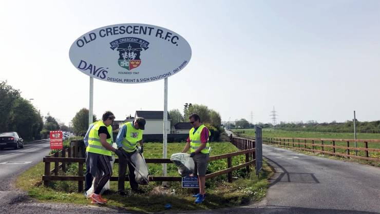 Civic Pride For Rugby With Limerick Clean-Up