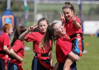 Aldi Play Rugby Festival, Ashbourne RFC, Co. Meath 1/5/2019 Members of St Olivers Plunkett National School Navan Team A ©INPHO/Bryan Keane