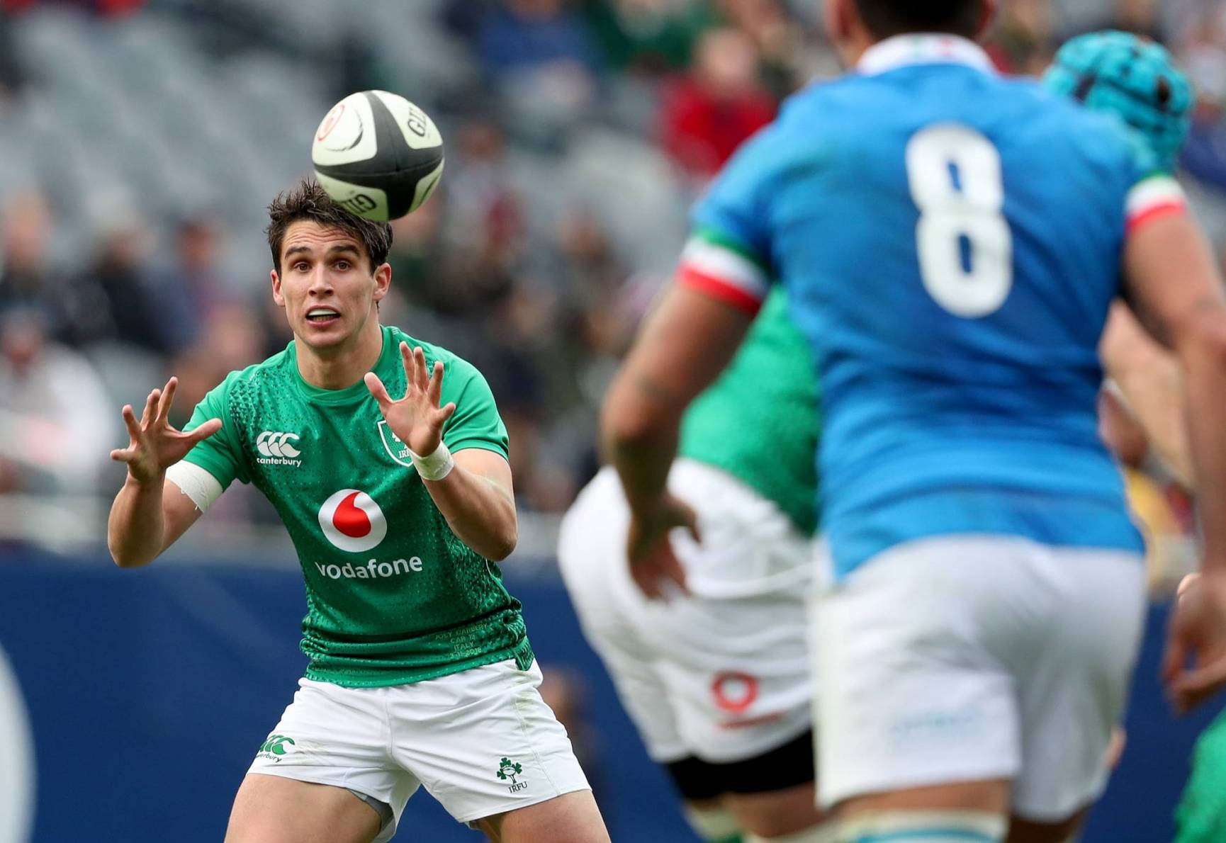 Joey Carbery in action against Italy