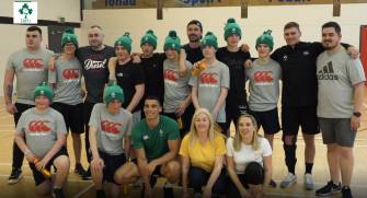 The boys from Poppintree Youth Centre with the Ireland Men's 7s and Jigsaw