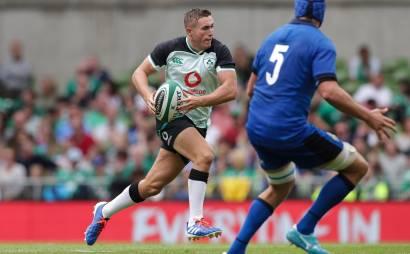Guinness Rugby Series Aviva Stadium Dublin 10/8/2019 Ireland vs Italy Ireland's Jordan Larmour Mandatory Credit ©INPHO/Billy Stickland