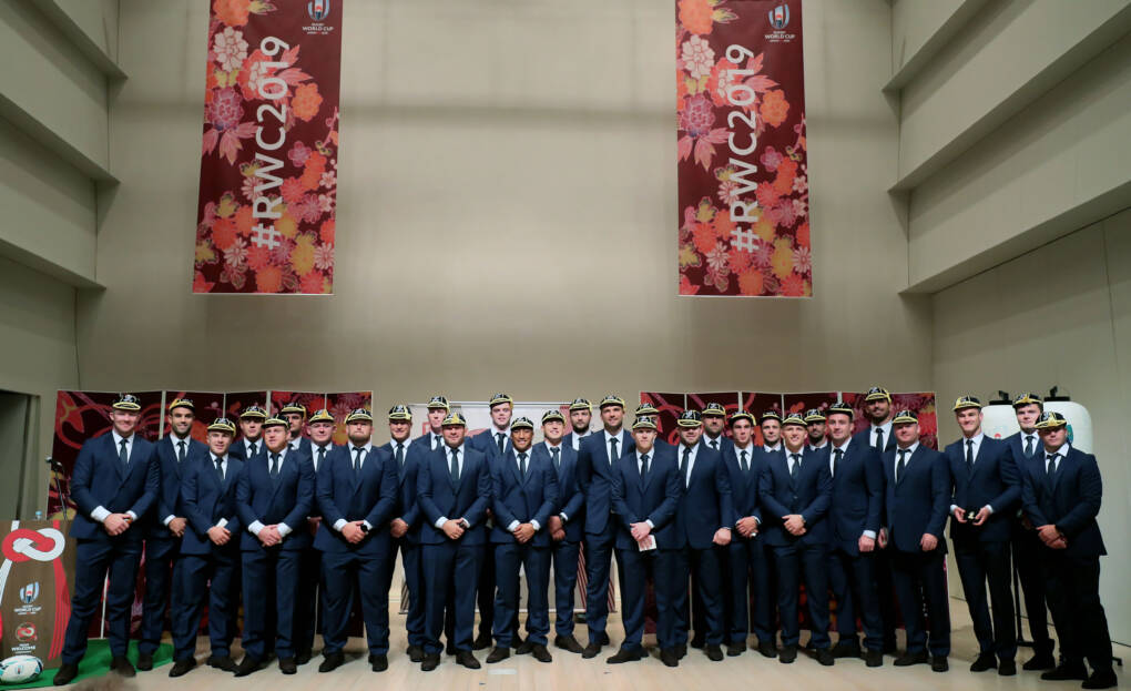 The Ireland team at the ceremony 13/9/2019