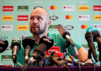 Ireland Rugby Press Conference, New Otani Hotel, Makuhari, 16/9/2019 Scrum Coach Greg Feek Mandatory Credit ©INPHO/Dan Sheridan