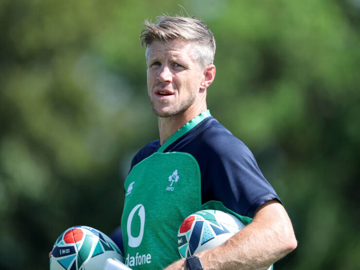 Ireland Rugby Training, Yumeria Sports Grounds, Iwata, Shizuoka, Japan 26/9/2019 Forwards coach Simon Easterby Mandatory Credit ©INPHO/Dan Sheridan