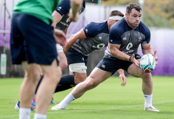 Ireland Rugby Squad Training, Shirouzuoike Park, Fukuoka, Japan 7/10/2019 Cian Healy Mandatory Credit ©INPHO/Dan Sheridan