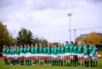 Ireland stand for the national anthems 10/11/2019