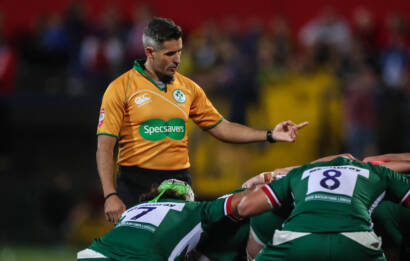 IRFU Referee Frank Murphy in action