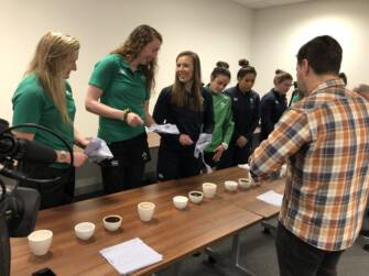 Barista training for the Ireland Women's squad at the IRFU High Performance Centre