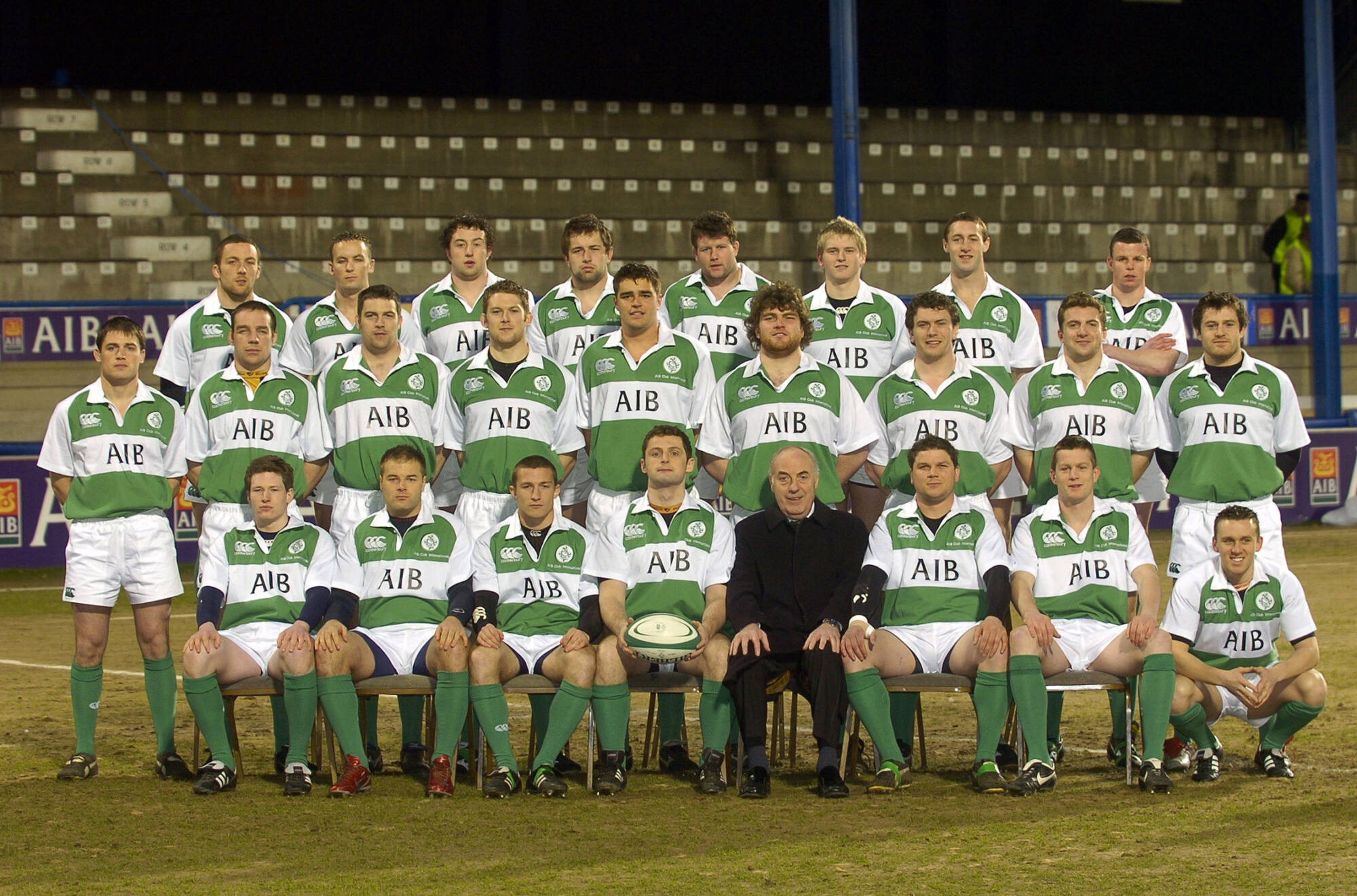 The first Ireland Club Team in Donnybrook in 2006 Mandatory Credit ©INPHO/Billy Stickland