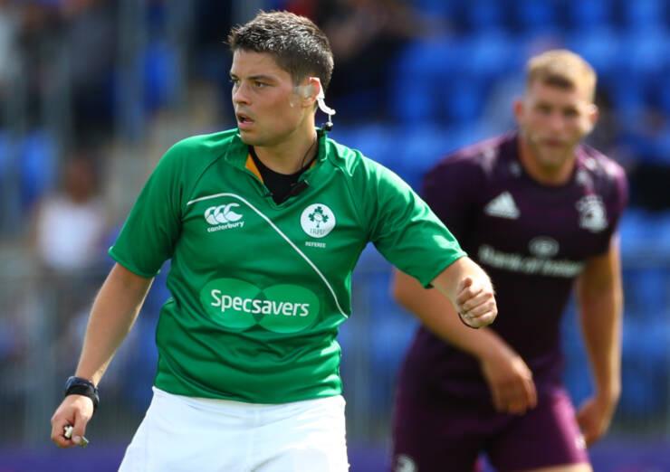 Leinster vs Coventry pre season friendly Referee Chris Busby