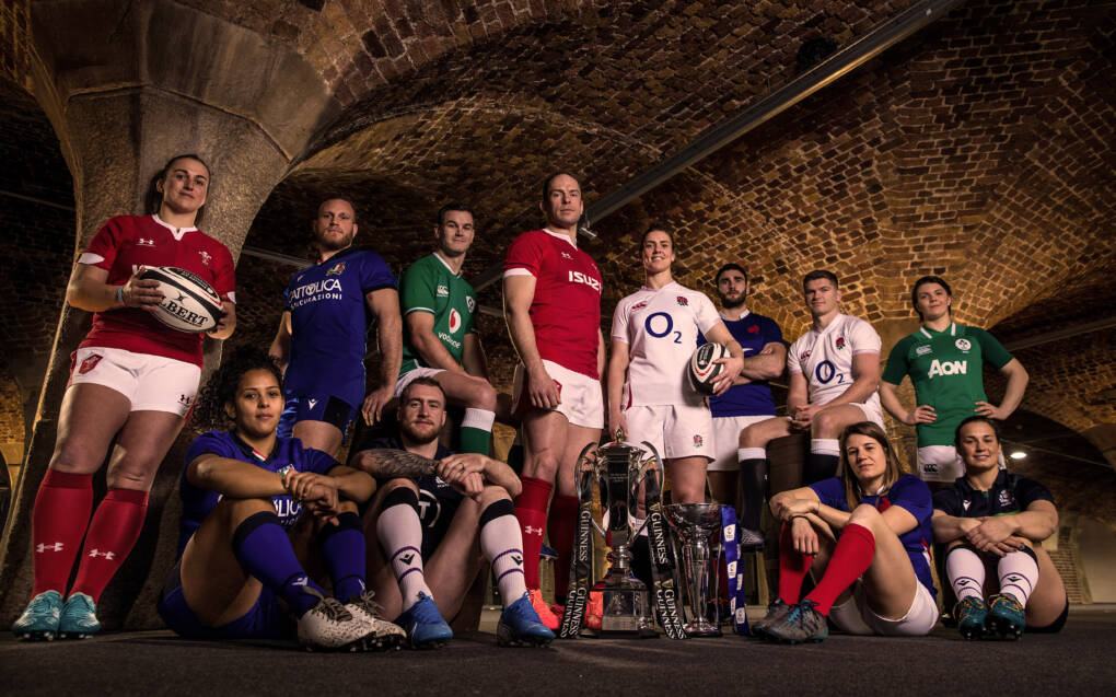 Team captains at the Guinness Six Nations Championship 2020 Launch, Tobacco Dock, London, England 22/1/2020 Mandatory Credit ©INPHO/Billy Stickland