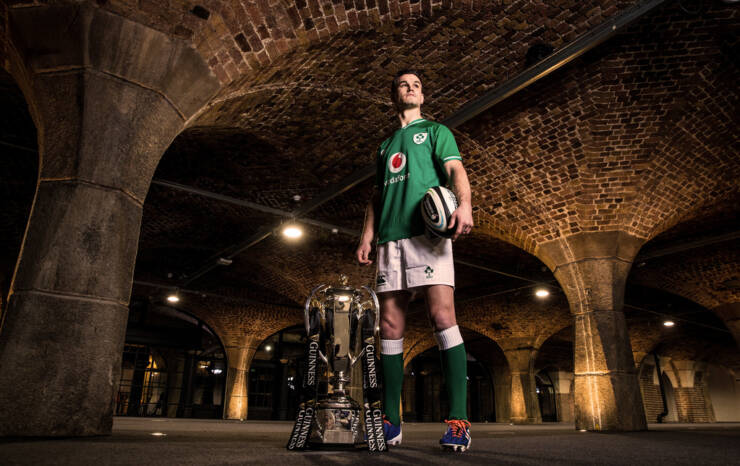 2020 Guinness Six Nations Championship Launch, Tobacco Dock, London, England 22/1/2020 Ireland captain Jonathan Sexton Mandatory Credit ©INPHO/Billy Stickland