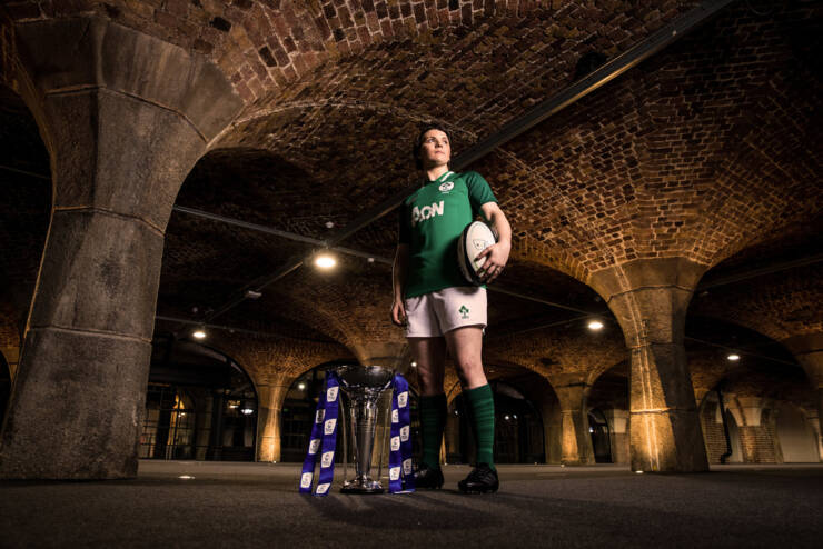 2020 Guinness Six Nations Championship Launch, Tobacco Dock, London, England 22/1/2020 Ireland women's captain Ciara Griffin Mandatory Credit ©INPHO/Billy Stickland