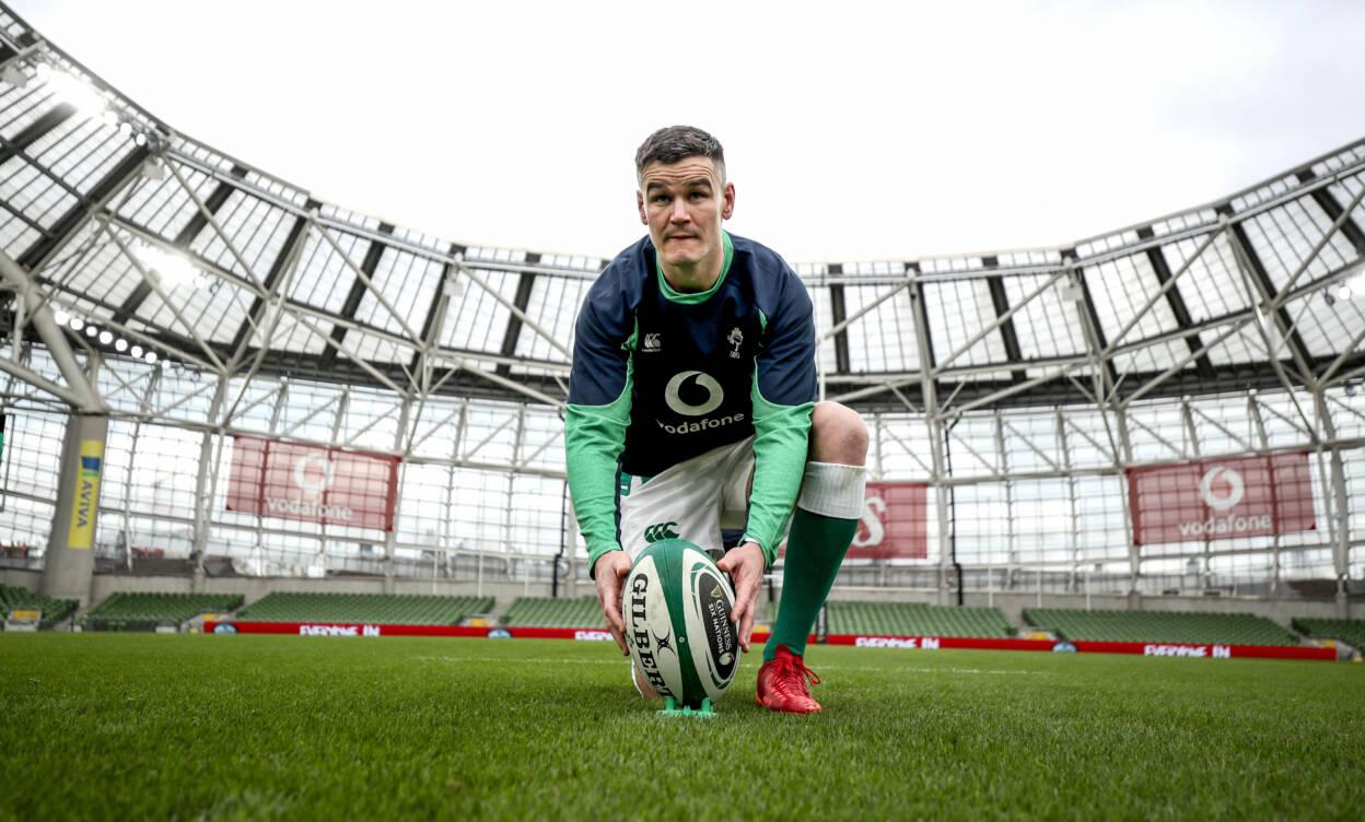 Ireland Rugby Captain's Run, Aviva Stadium, Dublin 31/1/2020 Jonathan Sexton Mandatory Credit ©INPHO/Dan Sheridan