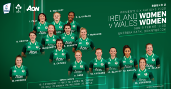 Ireland Women's Team to play Wales