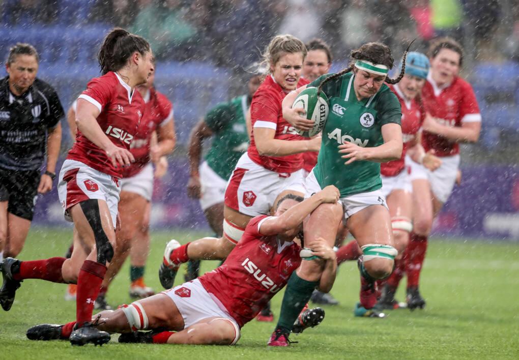 Bonus Point Reward For Ireland Women In Rain-Soaked Conditions