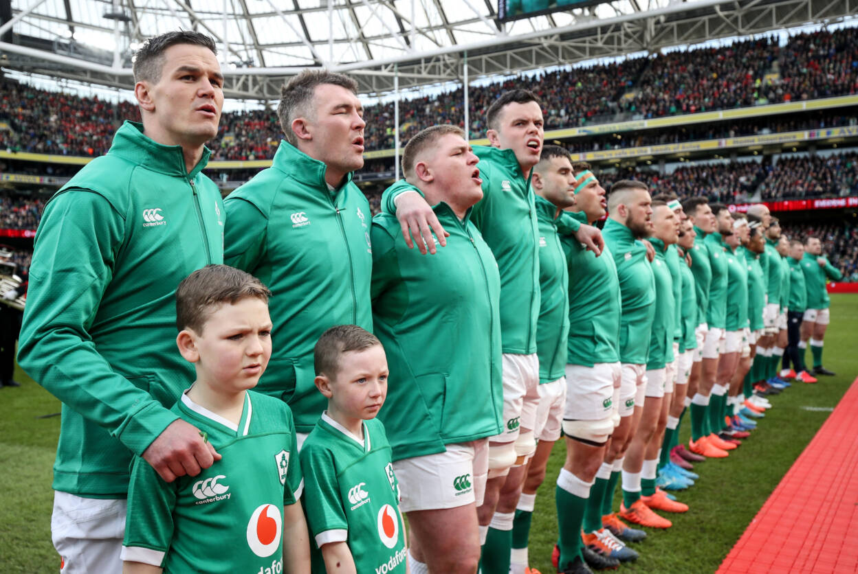 Ireland stand for anthems