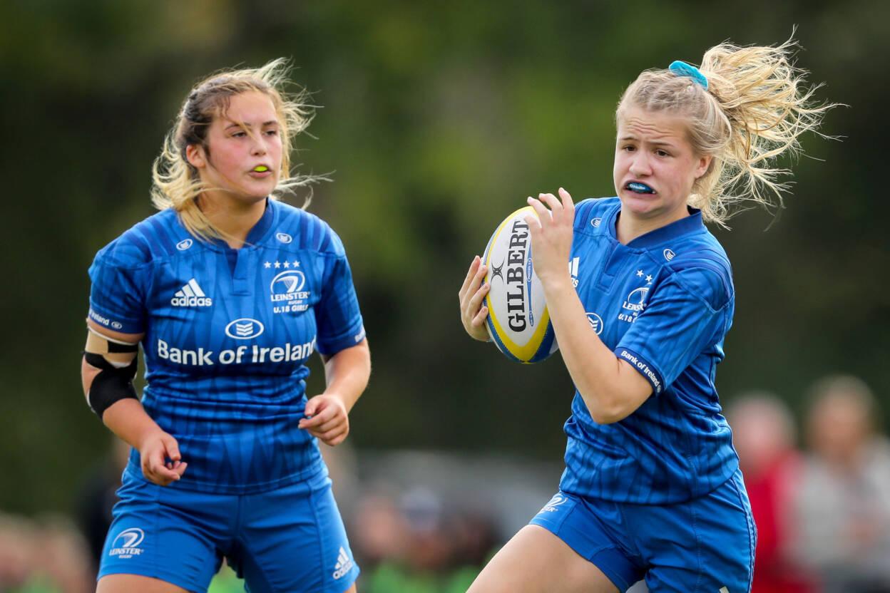 Leinster's Caoimhe O'Callaghan in action in the Women's U18 Interpros Mandatory Credit ©INPHO/Oisin Keniry