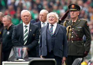 Nicholas Comyn with Michael D Higgins 7/9/2019