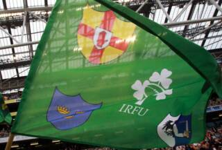 General view of a IRFU flag 27/8/2011
