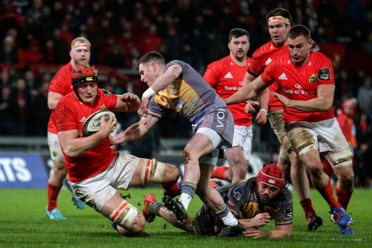 Coombes' Double Drives Munster To Bonus Point Victory