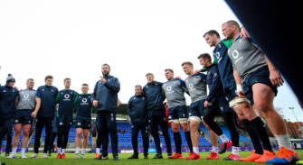 Andy Farrell speaks to the team 28/2/2020