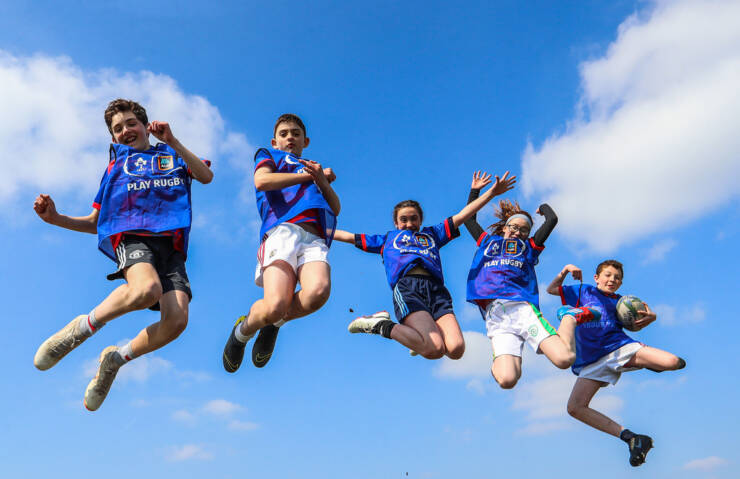 Aldi Play Rugby Festival, Castlebar RFC, Co. Mayo 10/4/2019 A view of participants at today's festival Mandatory Credit ©INPHO/Tommy Dickson