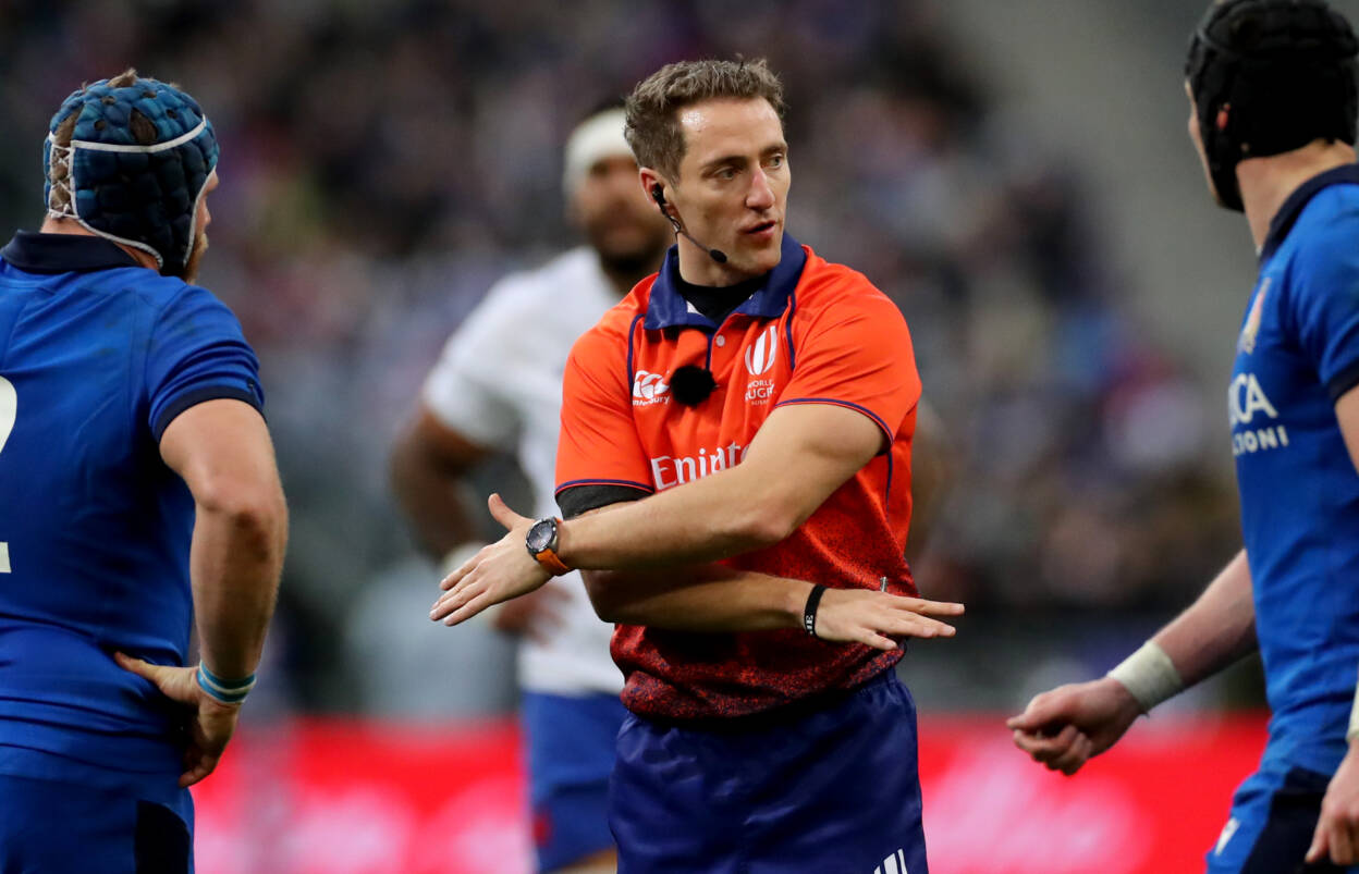 Referee Andrew Brace 2020 Guinness Six Nations Championship Round 2, France vs Italy