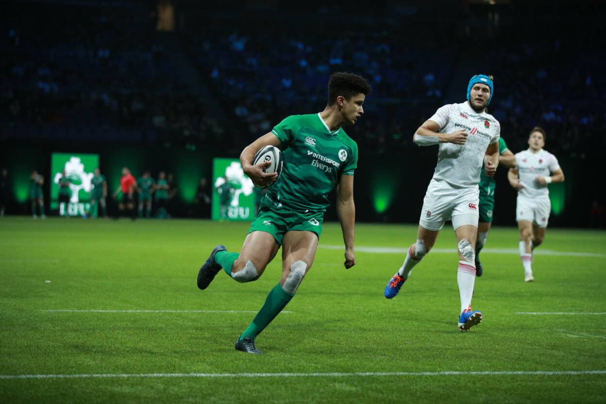 Cormac Izuchukwu in action for Ireland at RugbyX Picture by Stella Pictures/@stellapicsltd 29/10/2019