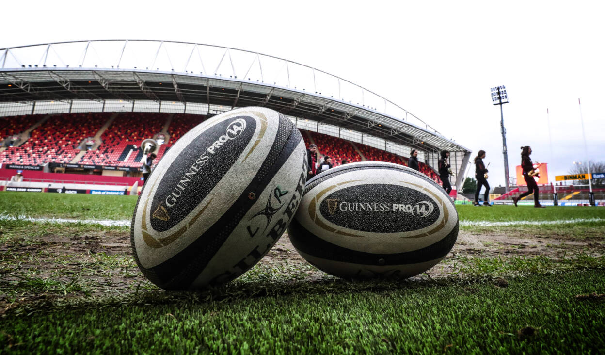 Guinness PRO14, Thomond Park, Limerick 28/12/2019 Munster vs Leinster A view of match balls on the pitch Mandatory Credit ©INPHO/Billy Stickland