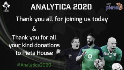 IRFU #Analytica2020 Raises Over €12,000 for Pieta House