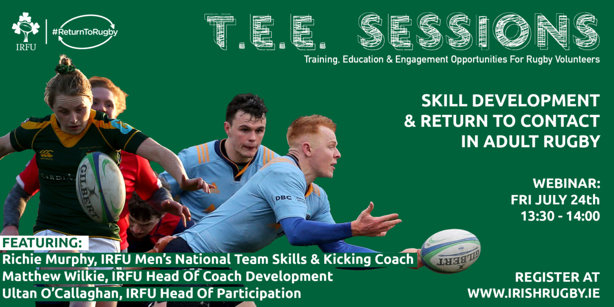 #ReturnToRugby Webinar Invite: Skill Development & Return To Contact In Adult Rugby