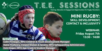 #ReturnToRugby Webinar Invite For Mini Rugby Coaches