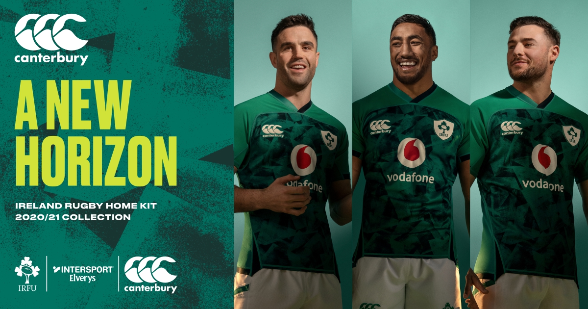 Canterbury Unveils New Ireland Rugby Home and Alternate Jersey
