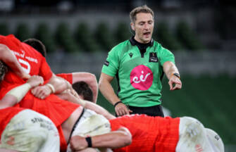IRFU Referee Brace To Take Charge Of Guinness PRO14 Final