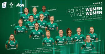 Update To Ireland Women's Team To Face Italy