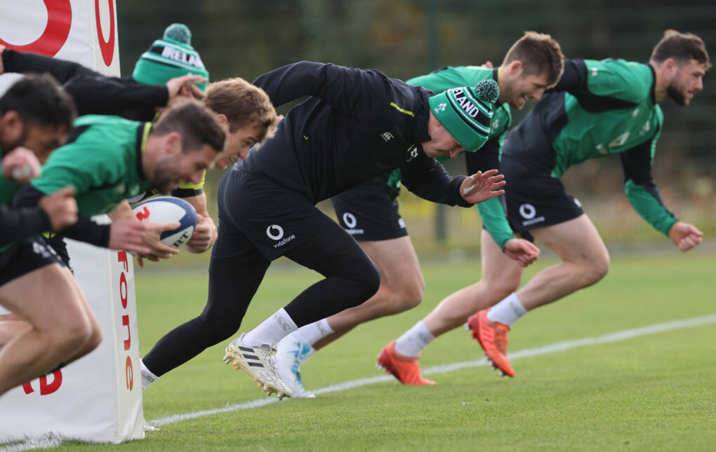 Ireland Back On The Training Pitch Ahead Of Paris