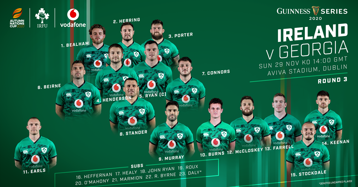 Much-Changed Ireland Squad Includes One New Cap