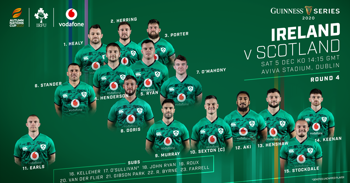One New Cap In Ireland Squad For Final Guinness Series Match