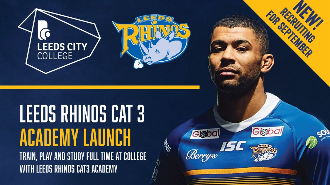 656fc9eb39d Leeds Rhinos is delighted to announce the launch of a Category 3 academy,  in partnership with Leeds City College and Leeds Rhinos Foundation.