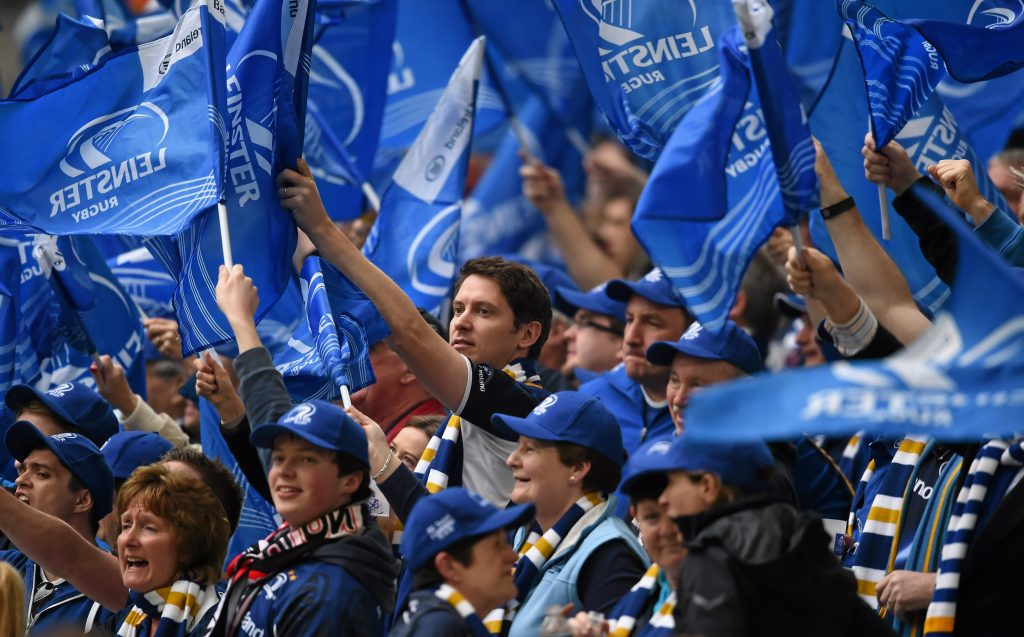 19 April 2015; Leinster supporters during the game. European Rugby Champions Cup Semi-Final, RC Toulon v Leinster. Stade Vélodrome, Marseilles, France. Picture credit: Stephen McCarthy / SPORTSFILE