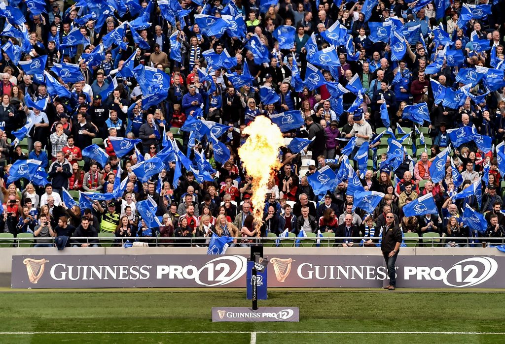 Leinster supporters. Photo by Brendan Moran/Sportsfile
