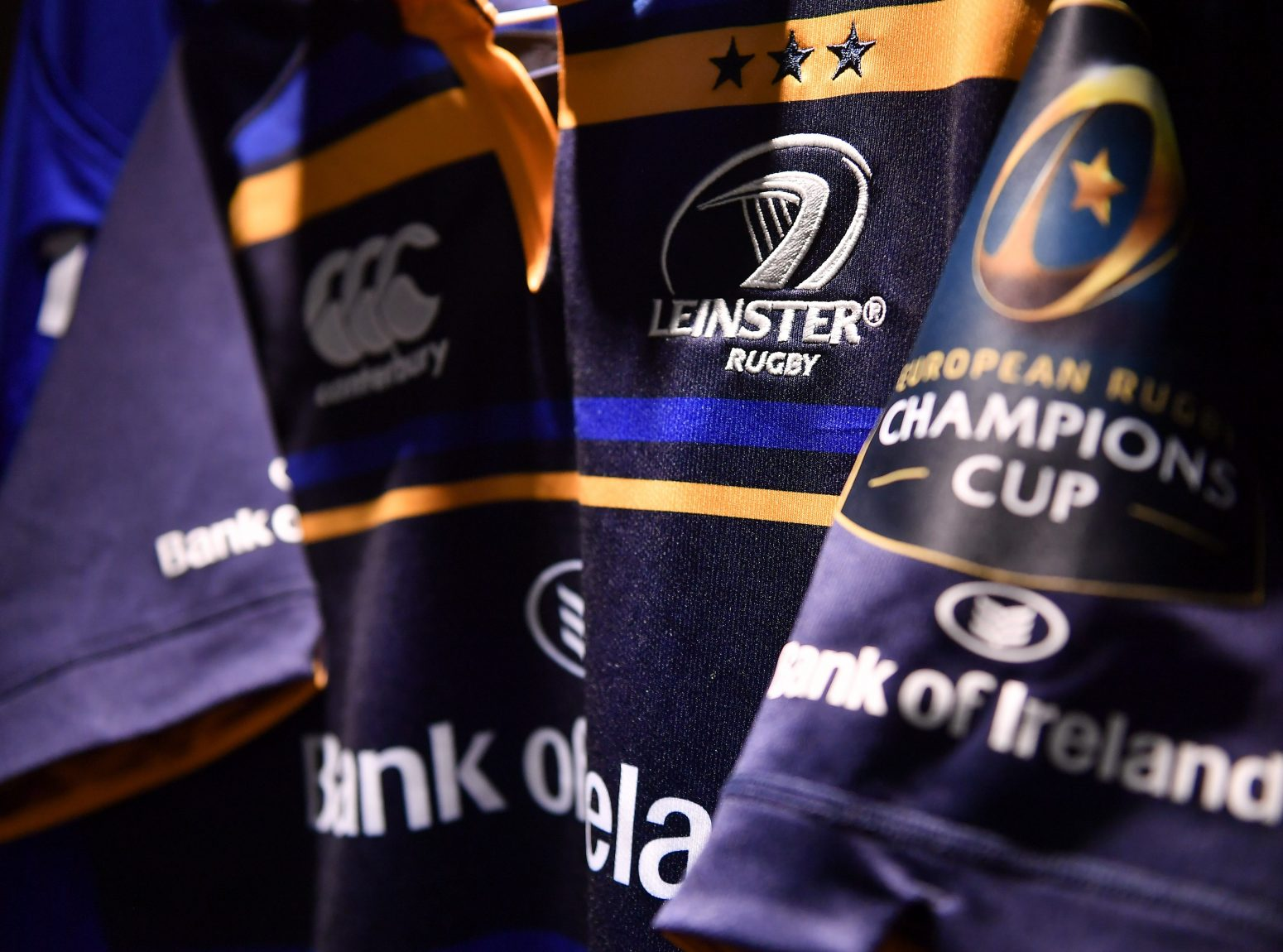 The Leinster European Champions Cup jersey. Photo by Brendan Moran/Sportsfile