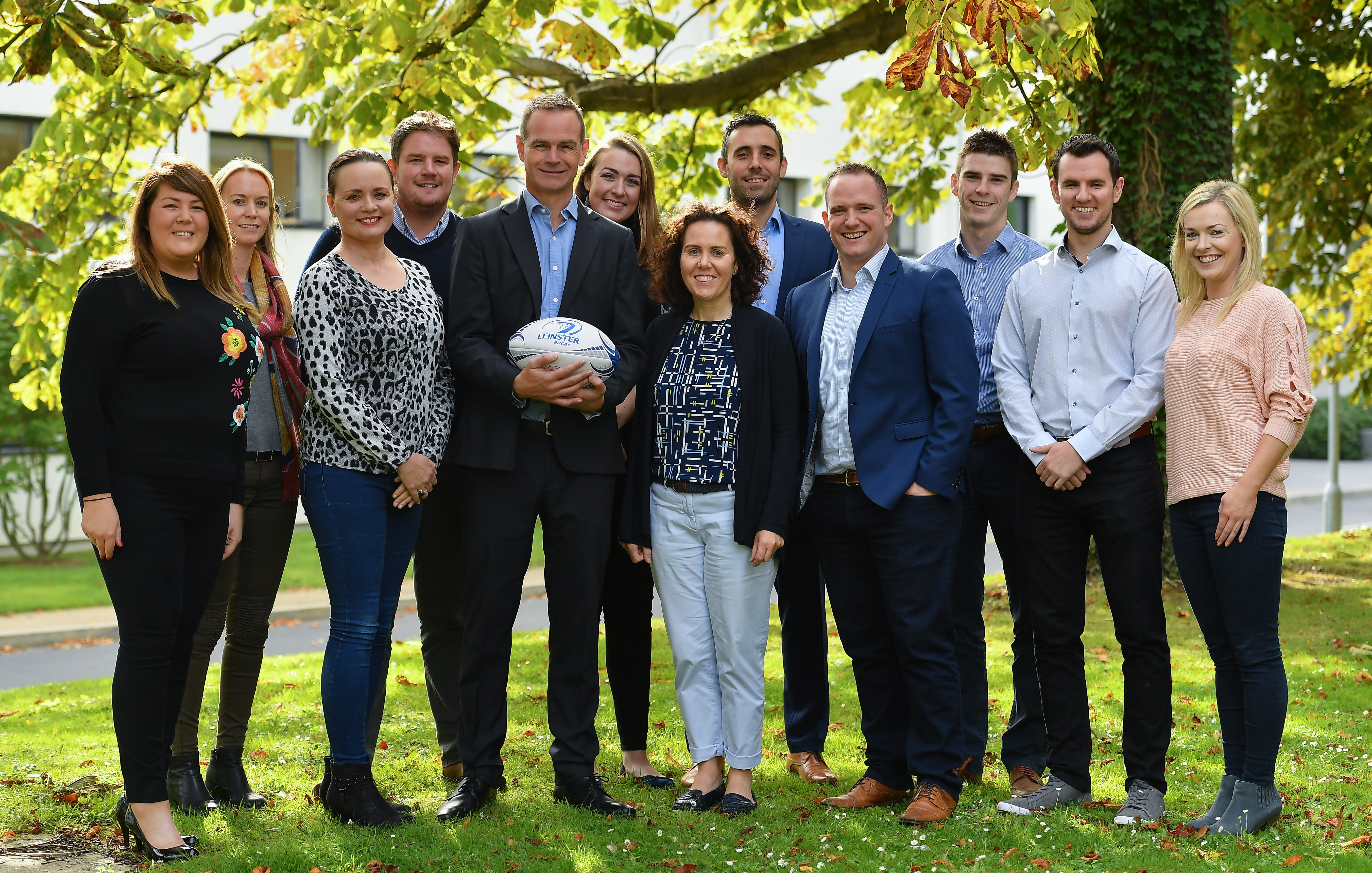 Leinster Rugby's new Head of Commercial & Marketing Kevin Quinn, with the rest of the Commercial & Marketing team pictured at Leinster Rugby HQ, in UCD, this morning. Photo by Brendan Moran/Sportsfile